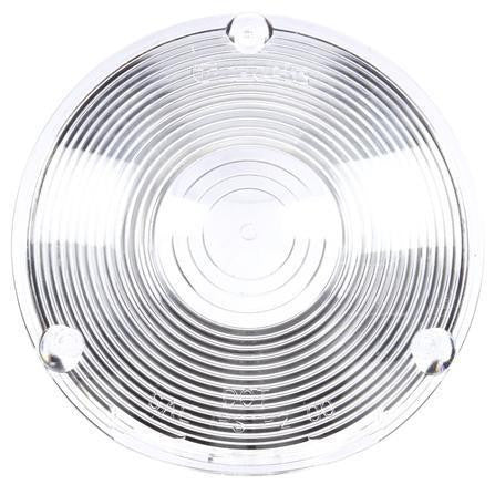 Truck-Lite 9016W Circular, Clear, Acrylic, Replacement Lens, 3 Screw