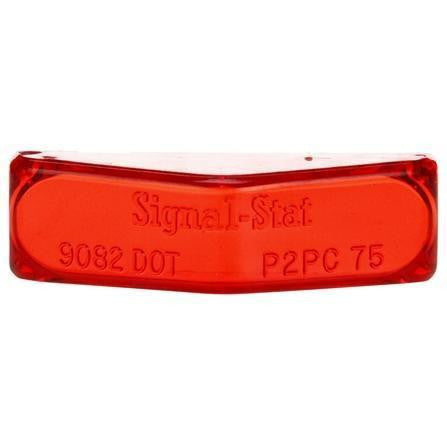 Truck-Lite 9082 Rectangular, Red, Polycarbonate, Replacement Lens, Snap-Fit