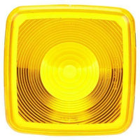 Truck-Lite 9084A Square, Yellow, Polycarbonate, Replacement Lens, Snap-Fit