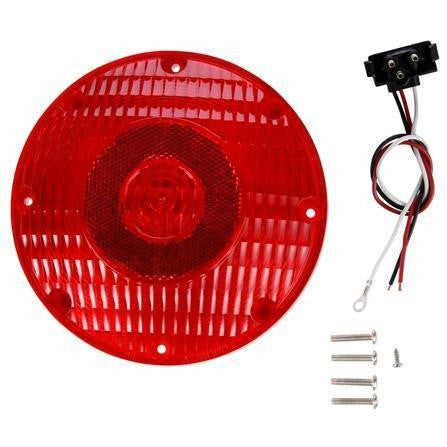 Truck-Lite 91002R Red 91 Series Round Incandescent 1 Bulb, Stop/Turn/Tail 12V Kit