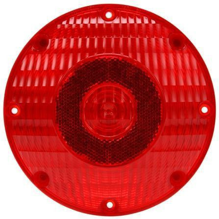 Truck-Lite 91205R 91 Series, Incan., Red, Round, 1 Bulb, S/T, 4 Screw, PL-3, 24V