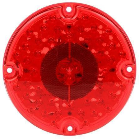 Truck-Lite 91242R 91 Series, LED, Red, Round, 47 Diode, S/T/T, 4 Screw, Reflectorized, Hardwired, Stripped, 12V