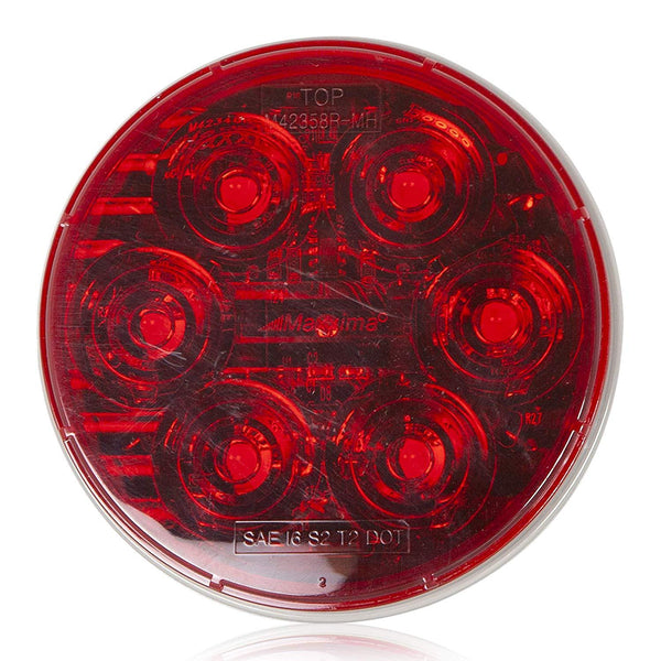 "Maxxima M42358R-MH MaxxHeat Red 6 LED 4"" Round Stop Tail Turn Light"