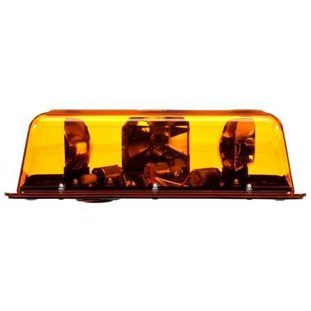 Truck-Lite 92524Y Halogen, Yellow, Rectangular, 2 Bulb, Mini Light Bar, Permanent Mount, 12V