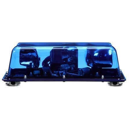 Truck-Lite 92525B Halogen, Blue, Rectangular, 2 Bulb, Mini Light Bar, Magnetic Mount, 12V