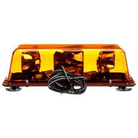 Truck-Lite 92525Y Halogen, Yellow, Rectangular, 2 Bulb, Mini Light Bar, Magnetic Mount, 12V
