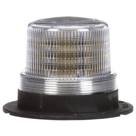 Truck-Lite 92564C LED Low Profile Beacon Clear Permanent/Pipe Mount 12V