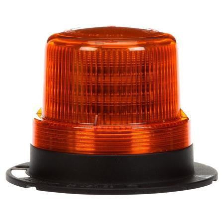 Truck-Lite 92564Y LED Low Profile Beacon Yellow Permanent/Pipe Mount 12V