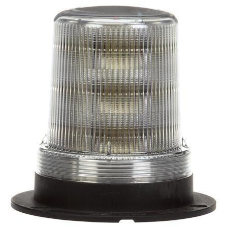 Truck-Lite 92565C LED Medium Profile Beacon Clear Permanent/Pipe Mount 12V