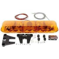 Truck-Lite 92672Y Halogen Yellow Rectangle, 4 Bulb, Light Bar, 12V