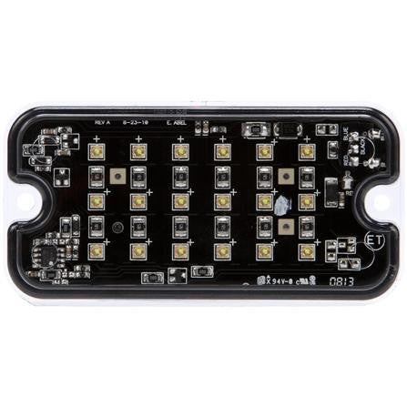 Truck-Lite 92871C LED Traffic Control Exterior Strobe Light 18 Diode Rectangular Clear Clear Surface Mount 12V
