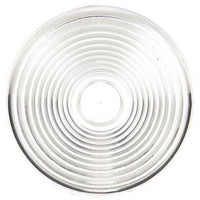 Truck-Lite 9341W Circular, Clear, Acrylic, Replacement Lens, Snap-Fit