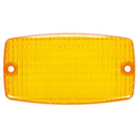 Truck-Lite 9372A Rectangular, Yellow, Polycarbonate, Replacement Lens, 2 Screw