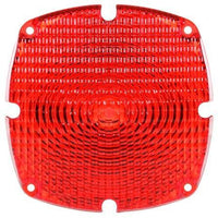 Truck-Lite 9382 Square, Red, Acrylic, Replacement Lens, 4 Screw