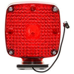 Truck-Lite 950 Dual Face, Incan Red/Yellow Square, 1 Bulb, Chrome, 1 Wire, Pedestal Light