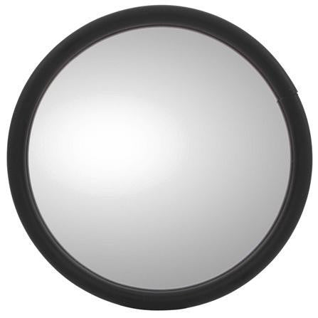 Truck-Lite 97611 5 in Black Stainless Flat Glass Mirror Round