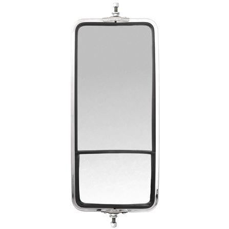 Truck-Lite 97635 Wide Angle, 7 x 16 in., West Coast Mirror, Silver Stainless Steel