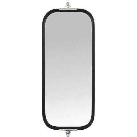 Truck-Lite 97637 Pyramid Style, 7 x 16 in., West Coast Mirror, White Stainless Steel