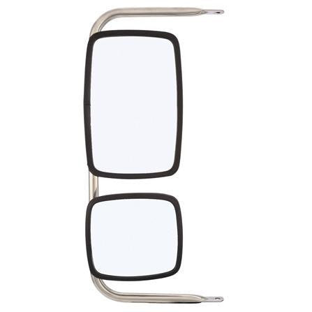 Truck-Lite 97669 White Steel Combination Mirror Assembly, Mirror, Truck-Lite