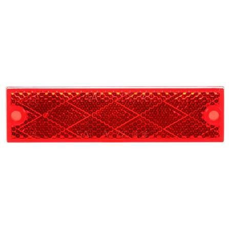 """2/' x 3-1//2/"""" Red Rectangle Reflector Truck-Lite Retro-Reflective Tape Adhesive"""