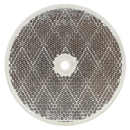 "Truck-Lite 98006C 3"" Round, Clear, Reflector, 1 Screw/Nail/Rivet"