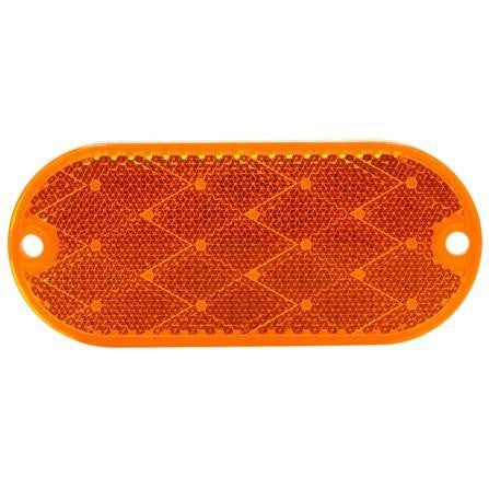 Truck-Lite 98031Y Oval, Yellow, Reflector, 2 Screw
