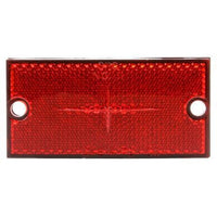 Truck-Lite 98035R Rectangle, Red, Reflector, Black ABS 2 Screw,