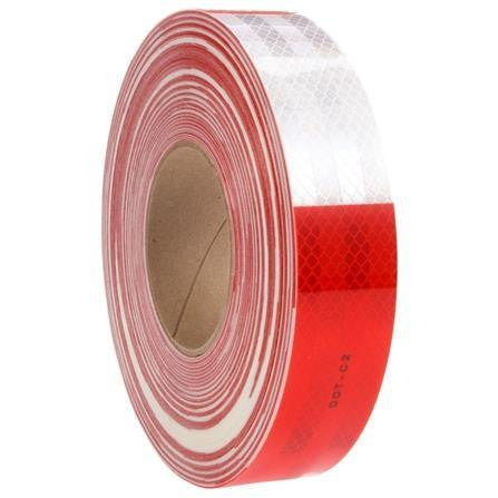 Truck-Lite 98107 Red/White Reflective Tape, 1.5 in. x 150 ft.