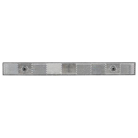 "Truck-Lite 98155 Narrow Rail, 11"" x 1"" Rectangle, Clear, Reflector, 2 Screw or Adhesive"