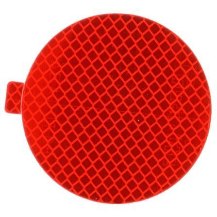 "Truck-Lite 98175R Retro-Reflective Tape, 3"" Round, Red, Reflector, Adhesive"