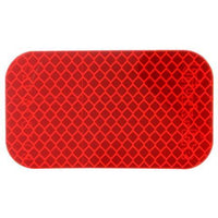 "Truck-Lite 98176RB Retro-Reflective Tape, 2' x 3-1/2"" Rectangle, Red, Reflector, Adhesive, Basket"