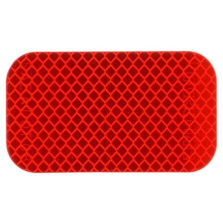 "Truck-Lite 98176R Retro-Reflective Tape, 2' x 3-1/2"" Rectangle, Red, Reflector, Adhesive"