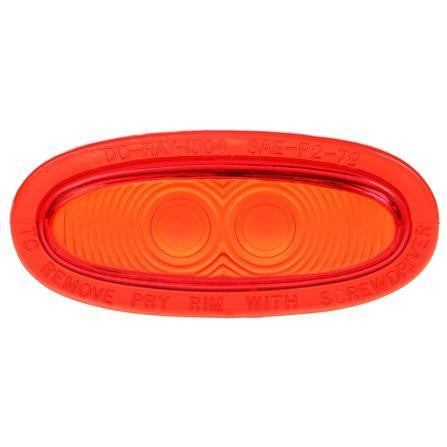 Truck-Lite 99043R Oval, Red, Acrylic, Replacement Lens for Betts Lights, Do-Ray, Snap-Fit, Replacement Lens, Truck-Lite