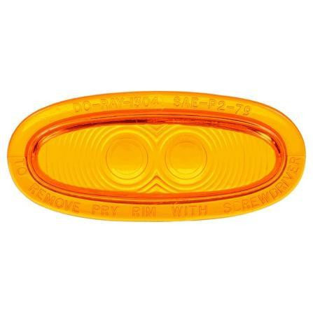 Truck-Lite 99043Y Oval, Yellow, Acrylic, Replacement Lens for Betts Lights, Do-Ray, Replacement Lens, Truck-Lite