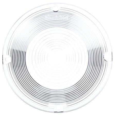 Truck-Lite 99080C Circular, Clear, Polycarbonate, Replacement Lens, 4 Screw