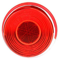 Truck-Lite 99104R Circular, Red/Clear, Acrylic, Replacement Lens, Snap-Fit