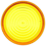 Truck-Lite 99108Y Circular, Yellow, Polycarbonate, Replacement Lens, Snap-Fit