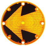 Truck-Lite 99167Y Arrow Lens, Circular, Yellow, Acrylic, Replacement Lens, 4 Screw