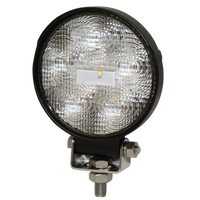 ECCO E92004 Round 6 LED, Clear Flood Beam Worklamp - Levine Auto and Truck Lighting