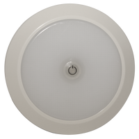 "ECCO EW0200 Interior LED 5.5"" Round, White, Switched, Surface mount 12-24V - Levine Auto and Truck Lighting"