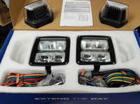 ECCO EW4010 Square Snowplow LED, KIT 12-24 VDC - Levine Auto and Truck Lighting