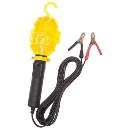 Bayco SL-301 12 Volt Incandescent Work Light w/Non-metallic Guard & Battery Clips