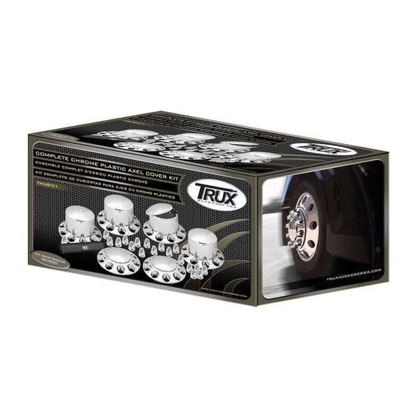 Trux THUB-C1 Complete Chrome ABS Axle & Nut Cover Kit