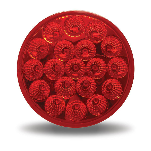 "Trux TLED-419R Red 4"" Standard LED Stop, Turn & Tail Light (19 Diodes)"