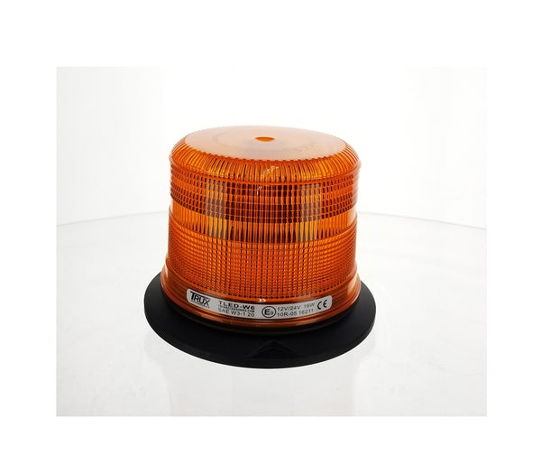 "Trux TLED-W6 Medium Profile Amber LED Strobe Light with 36 Flash Patterns (3 Bolt / 1"" Pipe Mount)"
