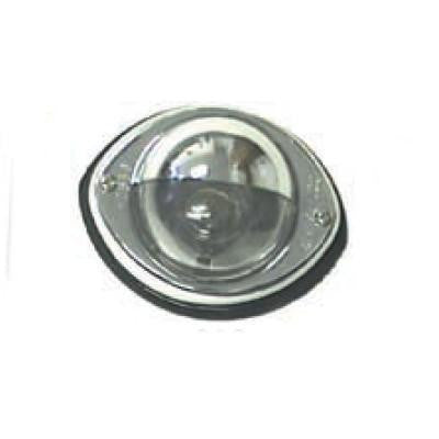 Arrow A028-00-332 Clear Stepwell Light w/Chrome Rim, Surface Mount.  With Shield - Levine Auto and Truck Lighting