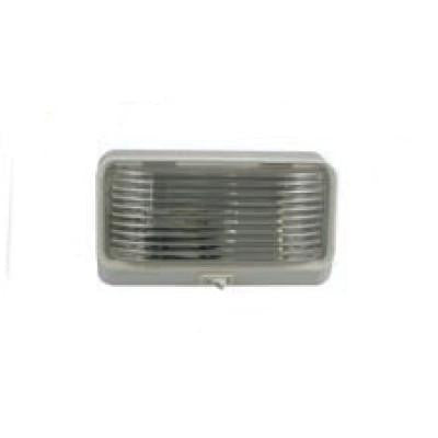 Arrow A032-00-732  Clear Dome Light, Rectangular, with Switch-Finish: White - Levine Auto and Truck Lighting