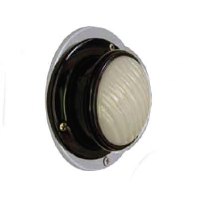 Arrow A036-00-332 Clear Dome Light, Surface Mount, Without  Switch, 15 C.P. -Finish: Chrome - Levine Auto and Truck Lighting