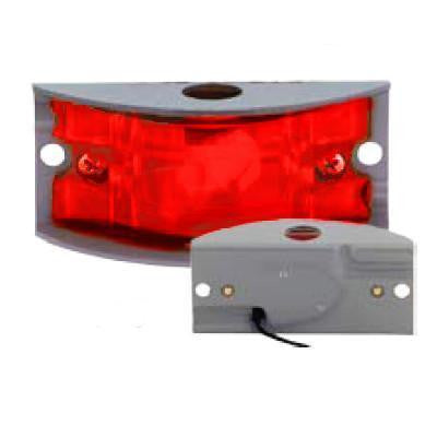 Arrow A055-75-022  Red Armored Marker Light - Aluminum w/ One  12V Bulb, 4 C.P. - Levine Auto and Truck Lighting