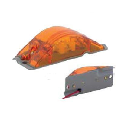 Arrow A056-76-012 Amber Amored Marker Light - Aluminum w/ Two  12V Bulbs, 2 C.P. - Levine Auto and Truck Lighting